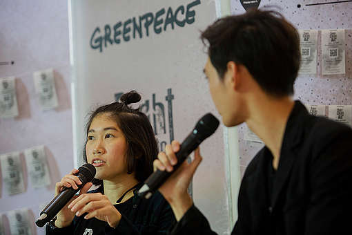 Rattanasiri Kittikongnapang at the Panel Discussion Right to Clean Air in Bangkok. © Chanklang  Kanthong / Greenpeace