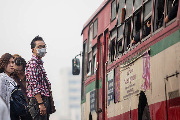 Air Pollution in Bangkok. © Chanklang  Kanthong / Greenpeace