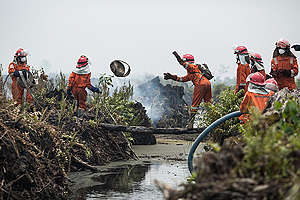 FFP Deployment in Kubu Raya, West Kalimantan. © Rendra Hernawan / Greenpeace