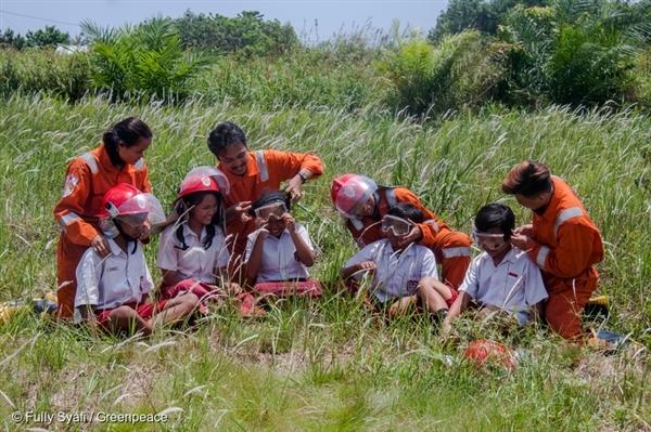 FFP team with school kids.