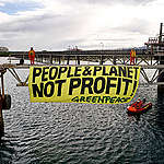 Action at Shell's Batangas Oil Refinery in the Philippines. © Noel Guevara / Greenpeace