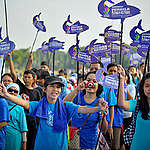 Ocean Defenders' March in Indonesia. © Yudhi  Mahatma / Greenpeace