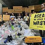 """ASEAN leaders welcomed by """"mountain of trash"""" and calls to ban plastic and e-waste imports"""