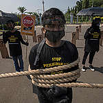 Modern Slavery Of Indonesian Fishers Protest in Jakarta. © Adhi Wicaksono / Greenpeace