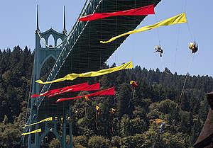 Shell Bridge Blockade in Portland. © Tim Aubry / Greenpeace