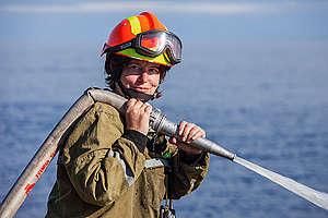 Firefighting and Training Camp on Ladoga Skerries. © Maria Vasilieva / Greenpeace