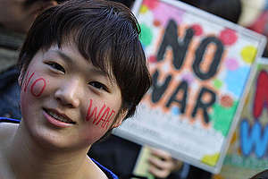 No War Demonstration in Japan. © Greenpeace / Jeremy Sutton-Hibbert