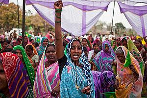Mahan Forest Victory Celebration in India. © Greenpeace / Sudhanshu Malhotra