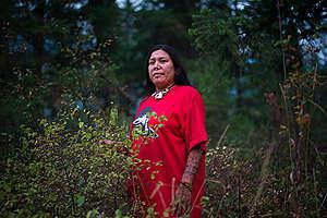 Kanahus Manuel, Activist from the Tiny House Warriors in Canada. © Ian Willms / Greenpeace