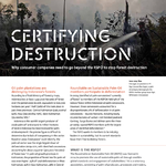 Certifying Destruction