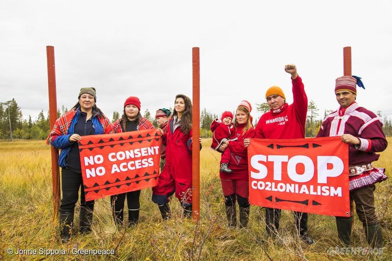 Protest i finska Sápmi