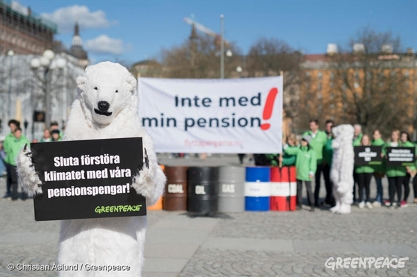 Inte med min pension, manifestation, Stockholm 25 april
