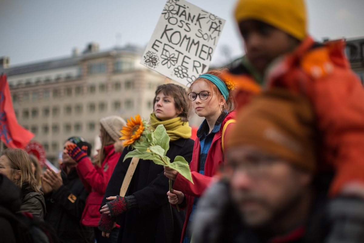 COP21: Climate March in Stockholm. © Denis  Sinyakov