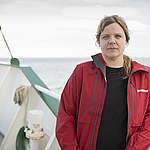 Frida Bengtsson on the Arctic Sunrise. © Christian Åslund / Greenpeace