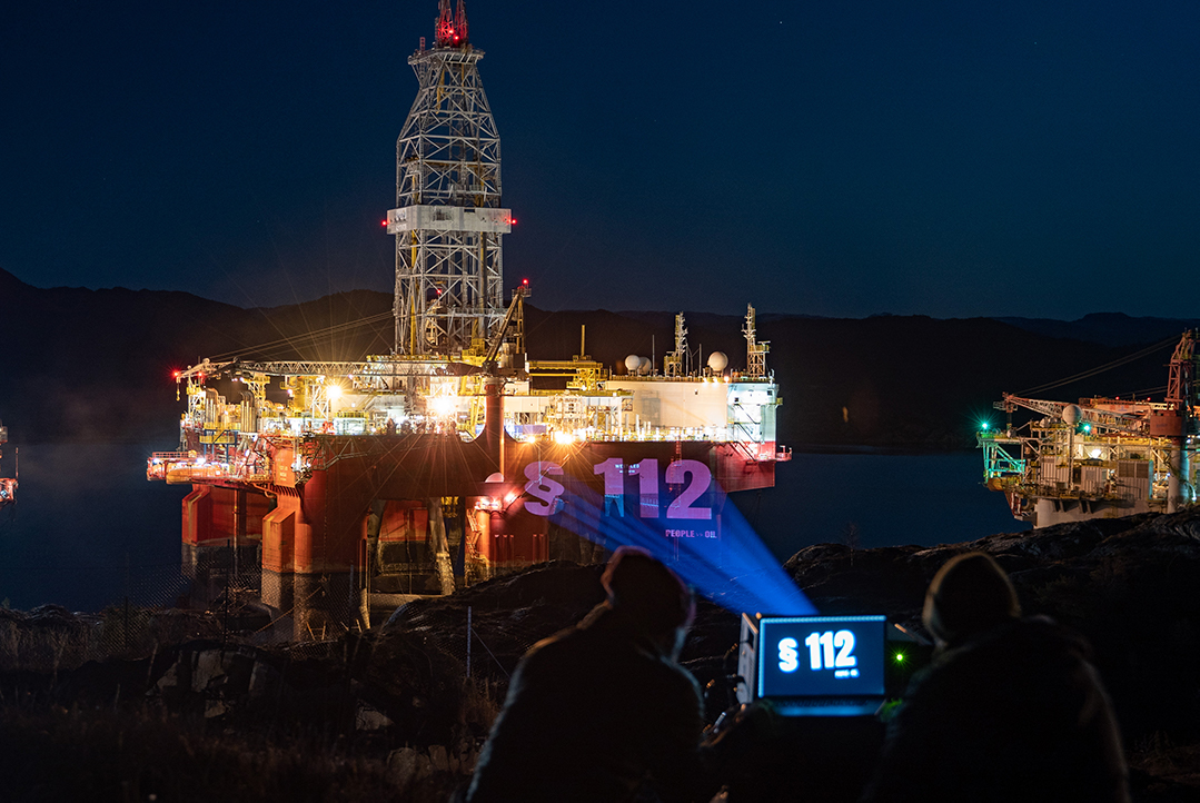 Projection at oil rigs
