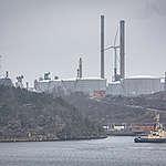 Preem Oil Refinery in Lysekil. © Will Rose / Greenpeace