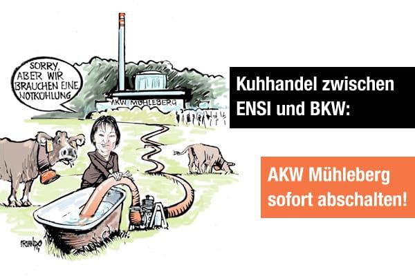 AKW Mühleberg: ENSI setzt Sicherheit der Bevölkerung aufs Spiel