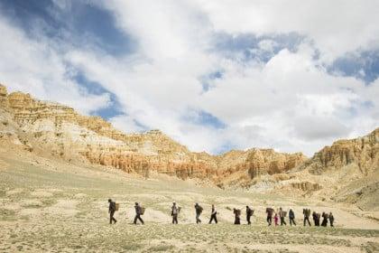 Das neue Land liegt drei Stunden Fussmarsch von Sam Dzong entfernt. Der Weg führt über einen hohen Pass.
