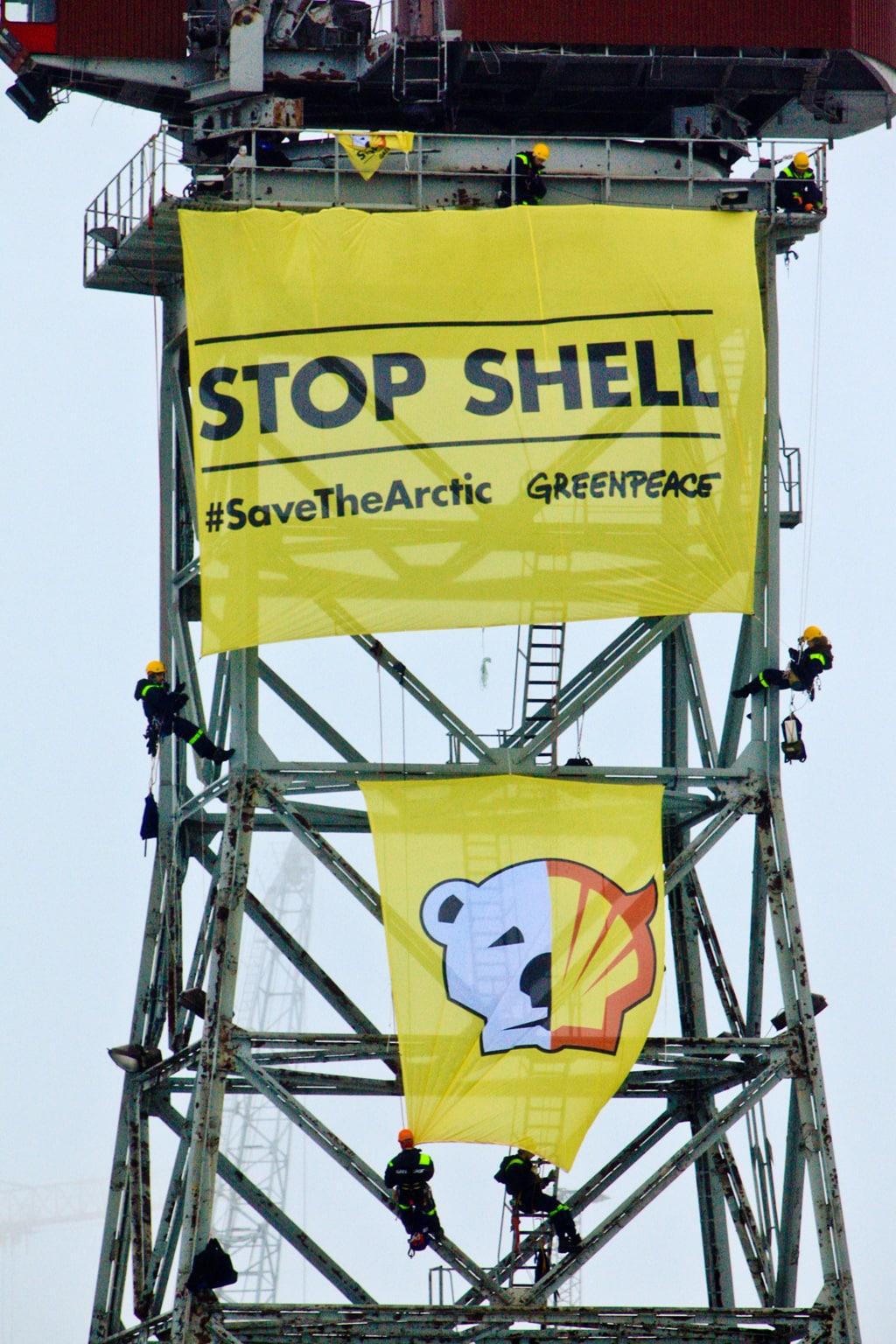 Banner gegen Shell