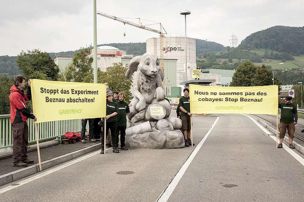 44 Jahre AKW Beznau: Wir sind keine Versuchskaninchen!