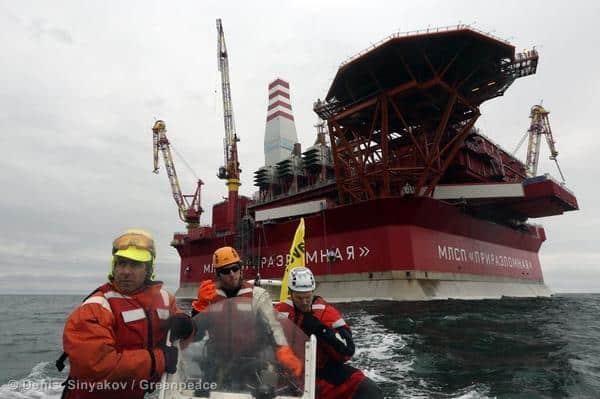 Aktivisten auf Ölplattform mussten aufgeben