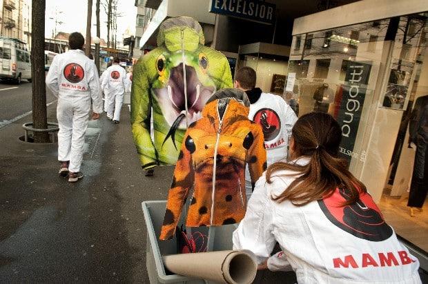 Greenpeace wäscht Mammut das Fell
