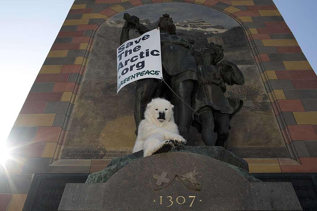 Eisbär probt mit Wilhelm Tell den Aufstand – Hände weg von der Arktis