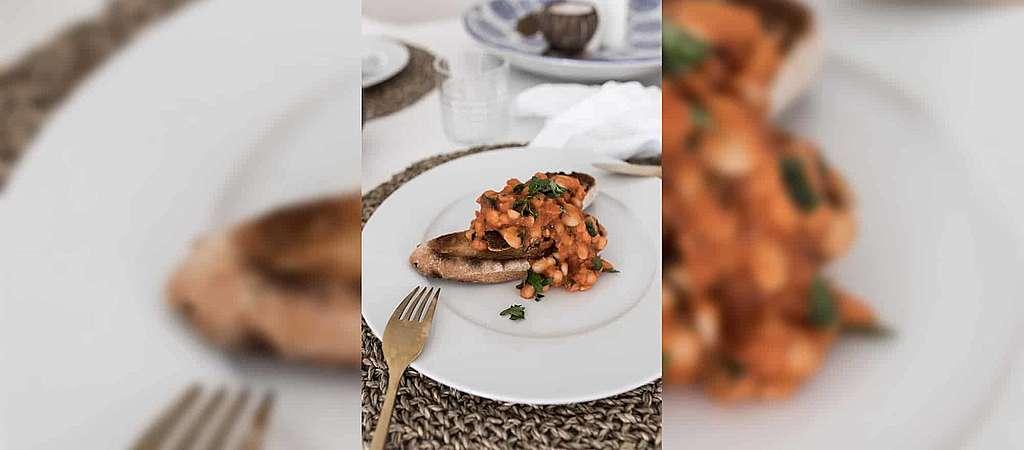 Recettes pour le climat: Haricots cuits sur pain grillé