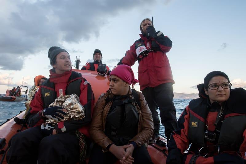 Schlauchboote für die Flüchtlinge