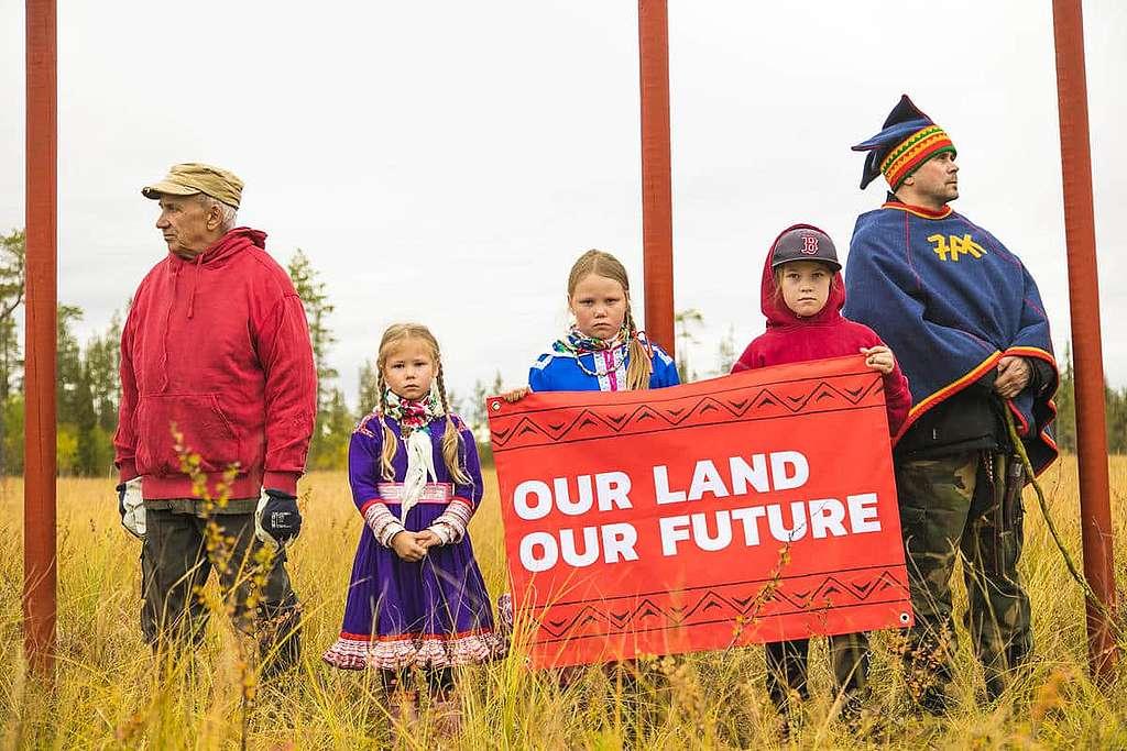 La ligne rouge: solidarité avec le peuple Sami