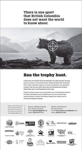 Dieses Inserat ist in der Dienstagsausgabe der kanadischen Zeitung «The Vancouver Sun» erschienen.