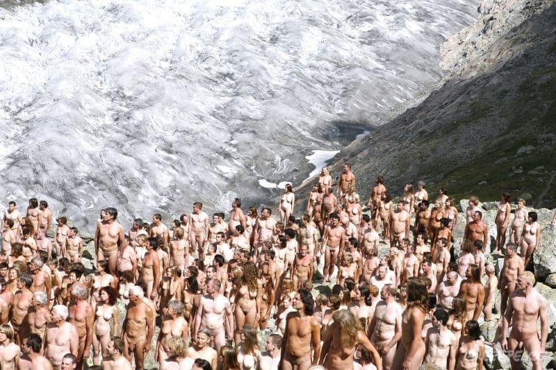 Nacktes Zeugnis der Klimaerwärmung