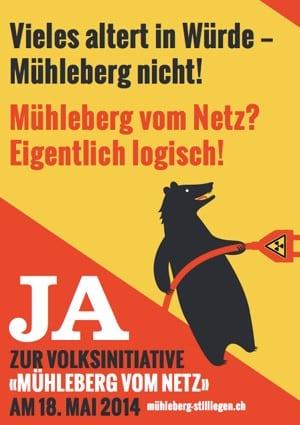 AKW Mühleberg: Nur die sofortige Abschaltung des Altreaktors ist sicher