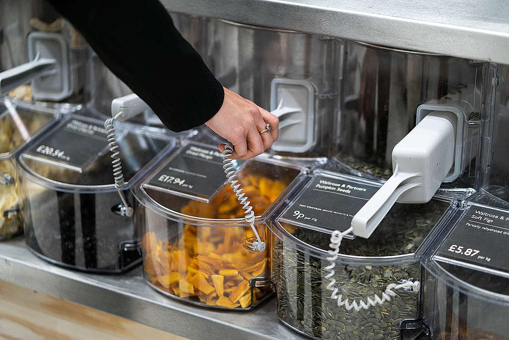 Getrocknete Früchte ohne Einwegverpackung