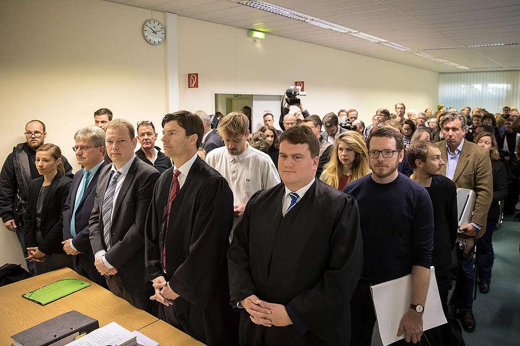 2019年10月,柏林行政法院的氣候投訴聽證會。