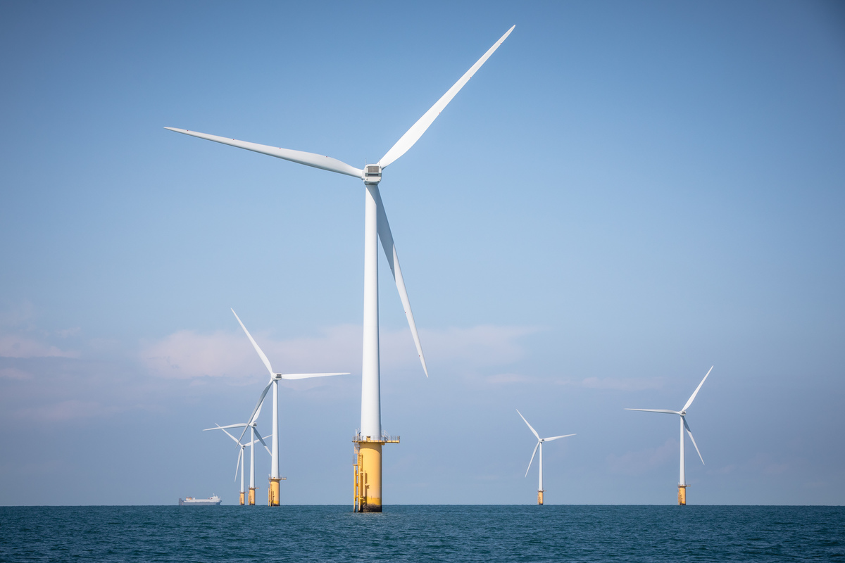 Thanet Offshore Wind Farm in Kent, UK. © Will Rose / Greenpeace