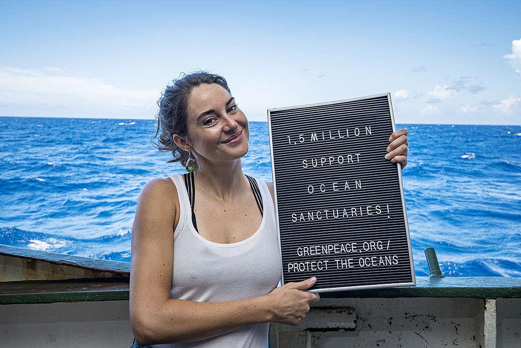 2019年8月雪琳伍德利參與綠色和平,呼籲支持成立全球海洋公約,當時全球有150萬人連署支持,如今在各界的推動之下,2020年3月,連署數字已達300萬!