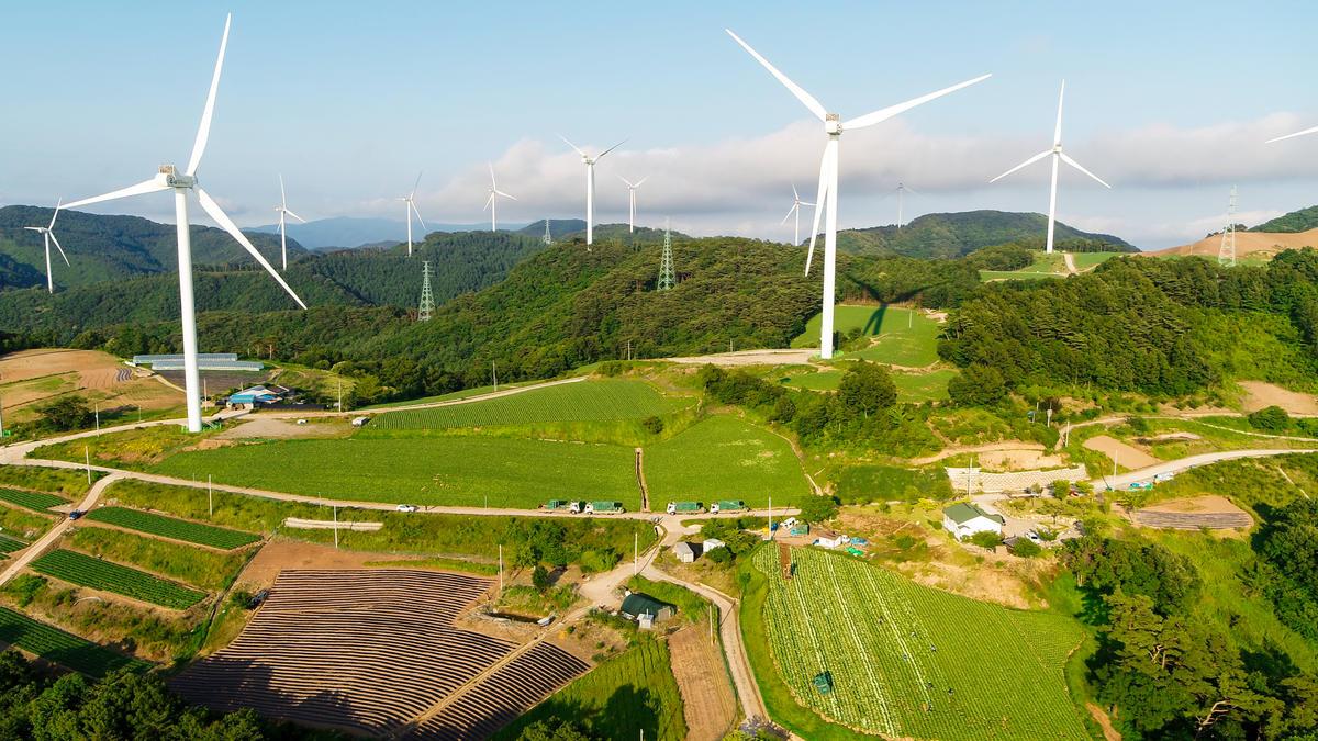 韓國第三大的風電場,預計每年可發出1.34億度電。