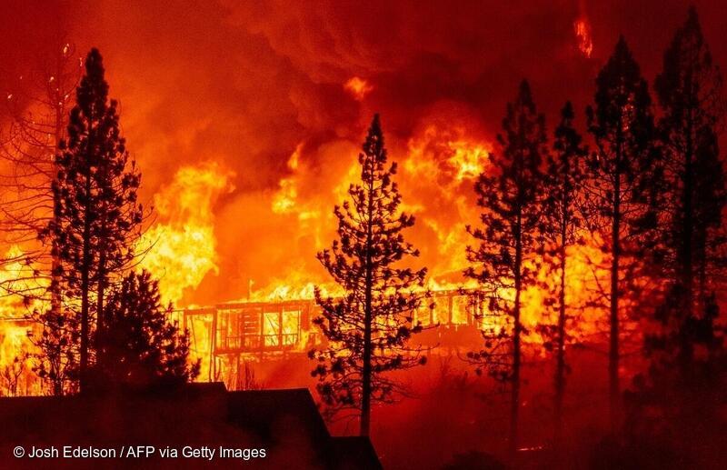 2020年9月8日,美國加州大火燒毀超過 200 萬英畝土地、樹木、房屋,熊熊大火釋放大量二兩化碳。