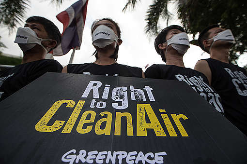 Right to Clean Air Protest in Bangkok. © Wason Wanichakorn / Greenpeace