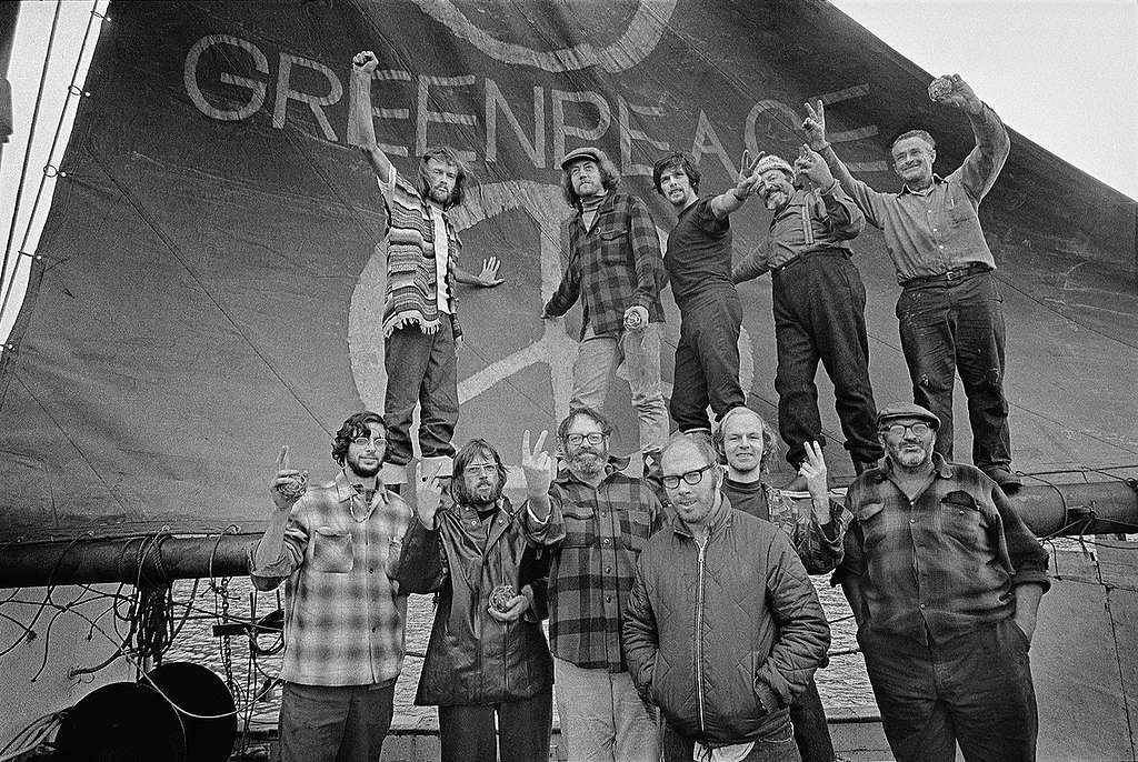 Crew of the Greenpeace - Voyage Documentation (Vancouver to Amchitka: 1971). © Greenpeace / Robert Keziere