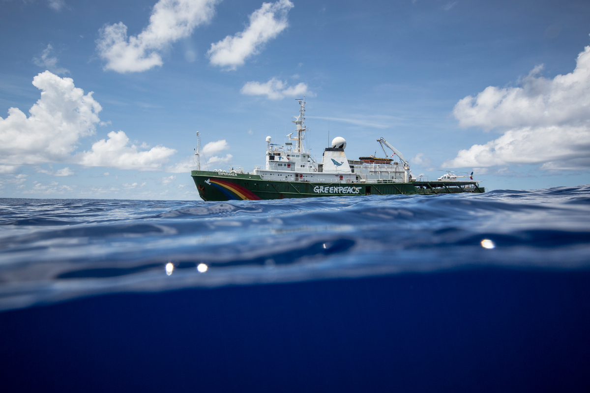 Esperanza in the Indian Ocean. © Will Rose / Greenpeace
