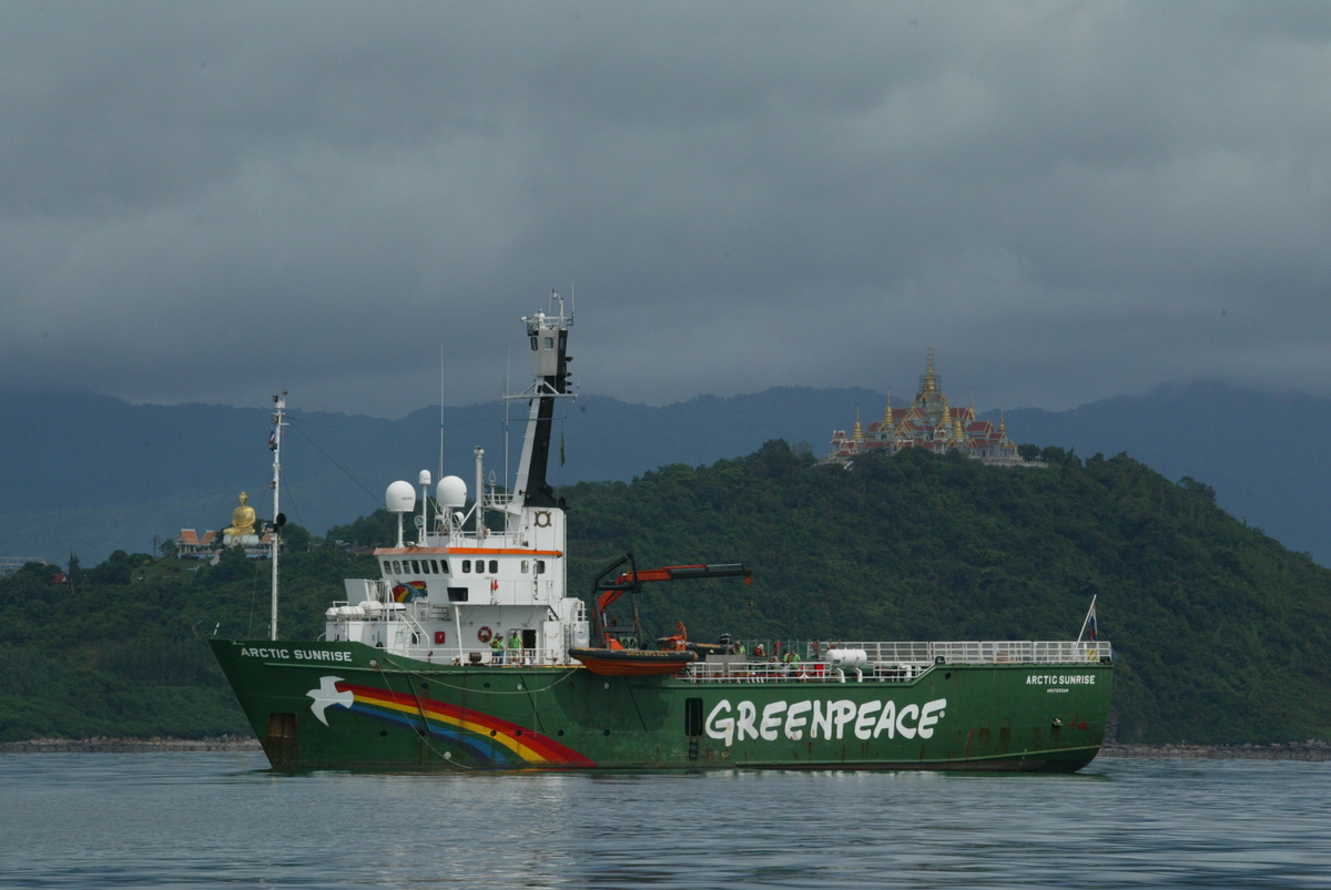 Tour around the South East of Asia to promote the use of clean energy. © Greenpeace / Kate Davison