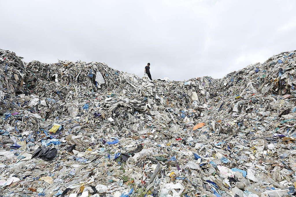 UK Plastic Waste near Wespack Recycling Factory Malaysia  Greenpeace