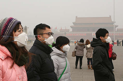 Air Pollution in Beijing. © Greenpeace / Yin Kuang