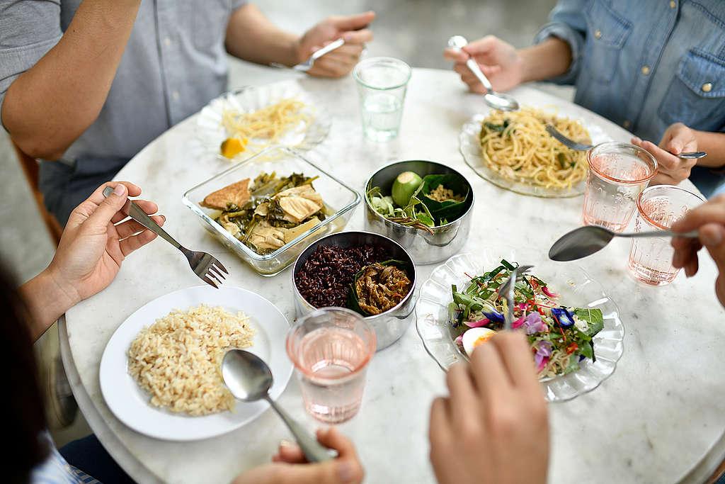 Vegetarian Thai Food in Bangkok. © Roengchai Kongmuang / Greenpeace