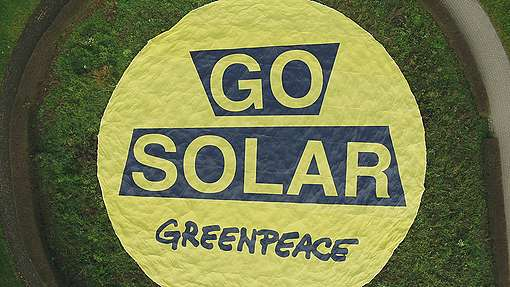 Solar Action in Luxembourg. © Joshua Marx / Greenpeace
