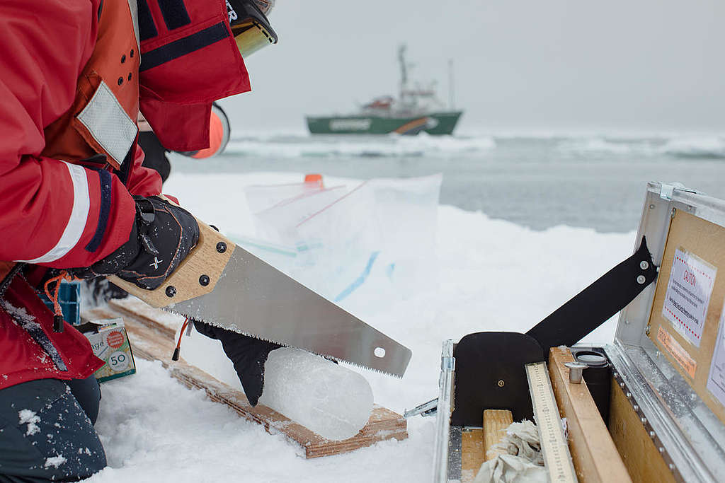 Science Research in the Arctic. © Denis Sinyakov / Greenpeace