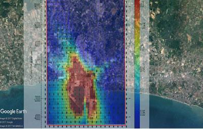 หนึ่งในภาพของระบบคาดการณ์สถานการณ์มลพิษอากาศของกรมควบคุมมลพิษ