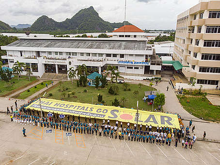 Solar Rooftop at Luang Suan Hospital in Thailand. © Greenpeace
